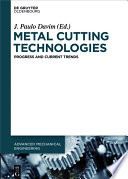 Metal Cutting Technologies