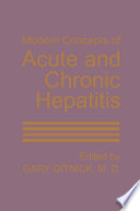 Modern Concepts Of Acute And Chronic Hepatitis Book PDF