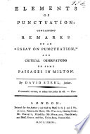 Elements of Punctuation