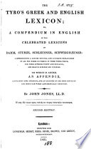 A Greek and English lexicon