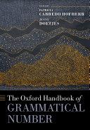 The Oxford Handbook of Grammatical Number Pdf/ePub eBook