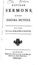 Pdf Fifteen Sermons Upon Social Duties