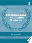 Statebuilding and Justice Reform Book