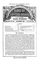 Elihu Burritt s Bond of brotherhood