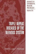 Triple Repeat Diseases of the Nervous Systems Book