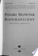 Polski slownik biograficzny