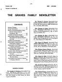 The Graves Family Newsletter