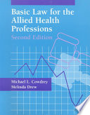 Basic Law for the Allied Health Professions