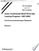 Outer Continental Shelf Oil & Gas Leasing Program