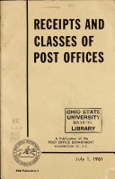 Receipts and Classes of Post Offices