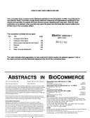 Abstracts in Biocommerce