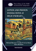 Lepton and Photon Interactions at High Energies Book