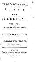 Trigonometry, Plane and Spherical;