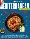 The Mediterranean Diet Cookbook   Italy on Your Table
