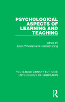 Psychological Aspects of Learning and Teaching