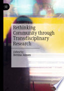 Rethinking Community through Transdisciplinary Research Book