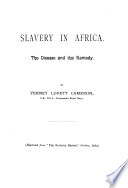 Slavery in Africa  the disease and the remedy