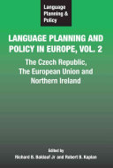 Language Planning and Policy in Europe