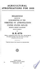 Agricultural Appropriations for 1955  Hearings Before     83 2  on H R  8779