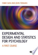 Experimental Design and Statistics for Psychology Book