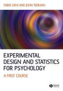 Experimental Design and Statistics for Psychology