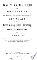 How to make a home and feed a family