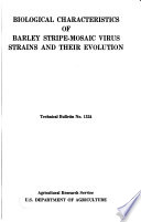 Biological Characteristics of Barley Stripe mosaic Virus Strains and Their Evolution