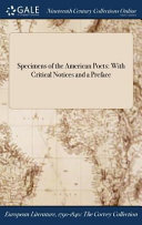 Specimens Of The American Poets