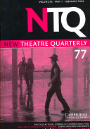 New Theatre Quarterly 77  Volume 20  Part 1