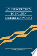An Introduction to Modern Welfare Economics