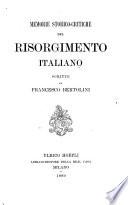 Memorie storico-critiche del Risorgimento italiano