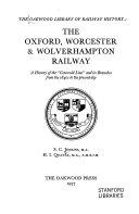 The Oxford  Worcester   Wolverhampton Railway