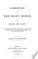 A Commentary Upon The Holy Bible