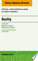 Quality, An Issue of Critical Nursing Clinics of North America,