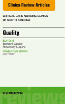 Quality  An Issue of Critical Nursing Clinics of North America