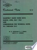 Quarterly Radio Noise Data