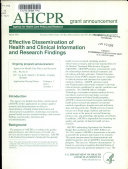 Effective Dissemination of Health and Clinical Information and Research Findings