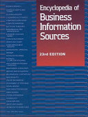 Encyclopedia Of Business Information Sources Book PDF