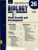 Chapter Resource 26 Plant Growth Developmental Biology
