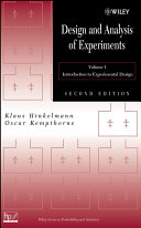 Design and Analysis of Experiments  Volume 1