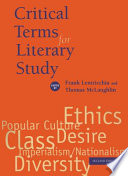 Critical Terms For Literary Study Second Edition