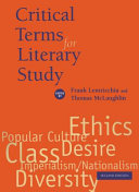 Critical Terms for Literary Study, Second Edition