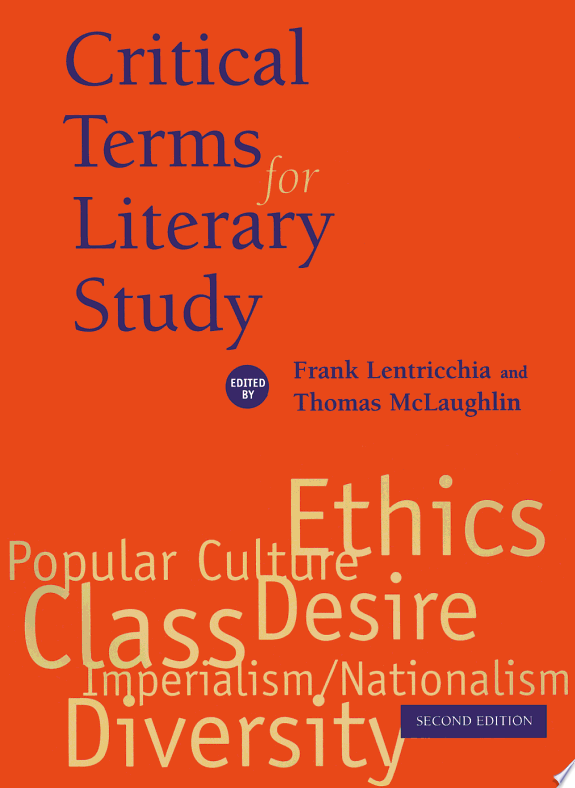 Critical Terms for Literary Study,