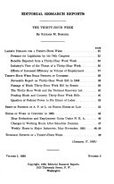 Editorial Research Reports