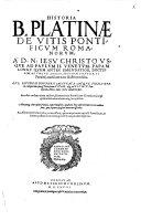 Historia de vitis pontificum Romanorum