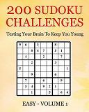 200 Sudoku Challenges   Easy   Volume 1