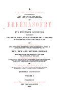 Encyclopedia of Freemasonry and Its Kindred Sciences