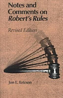 Notes and Comments on Robert s Rules Book