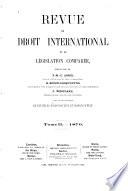 Revue De Droit International Et De L Gislation Compar E