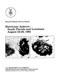 Hurricane Andrew  South Florida and Louisiana  August 23 26  1992